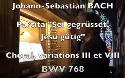 Arnaud Van de Cauter – JS BACH BWV 768 Sei gegrüsset Jesu güttig